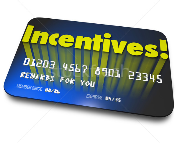Incentives Rewards Bonus Credit Gift Card Money Savings Value Stock photo © iqoncept