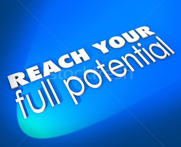 Reach Your Full Potential 3d Words New Opportunity Growth Stock photo © iqoncept