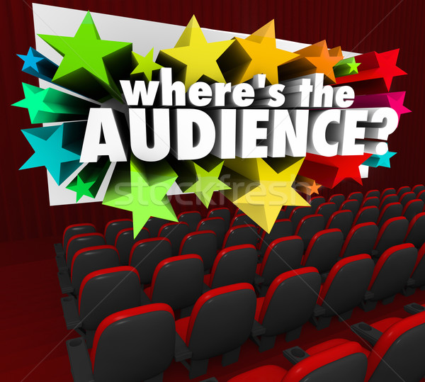 Stock photo: Where's the Audience Movie Theater Screen Missing Customers