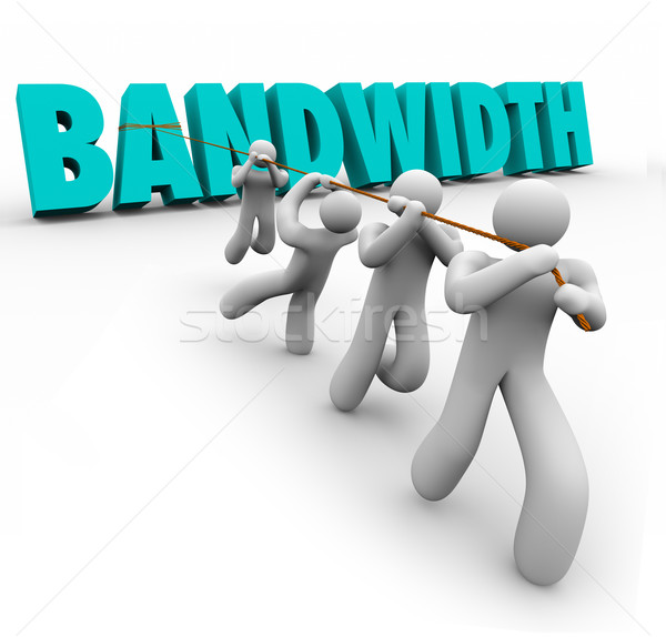 Bandwidth Word Pulled Team Resources Limited Ability Time Stock photo © iqoncept