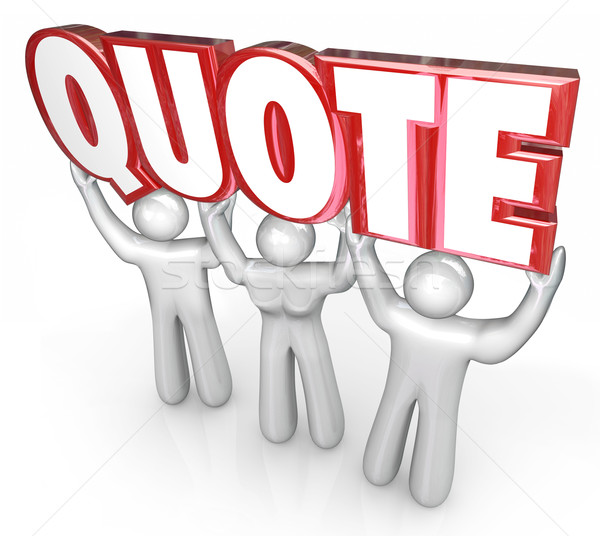 Quote 3d Letters Word Lifted Sales People Request for Proposal C Stock photo © iqoncept