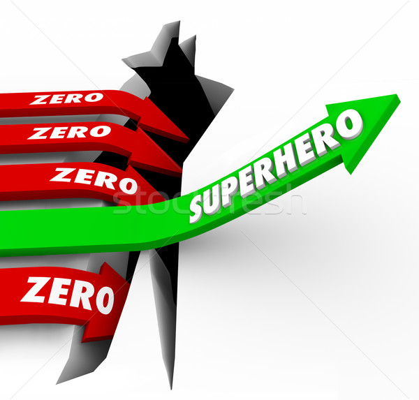 Superhero Vs Zero Top Performer Defender Protector Role Model Ar Stock photo © iqoncept