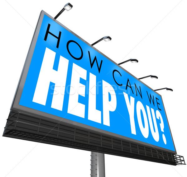 Stok fotoğraf: Can · yardım · ilan · panosu · sözler · müşteri · hizmetleri · destek