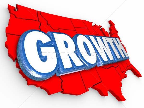 Growth Word United States America Increase Population Economy Im Stock photo © iqoncept