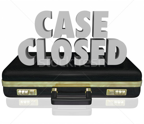 Case Closed Briefcase Lawsuit Settlement Ending Closure Final De Stock photo © iqoncept