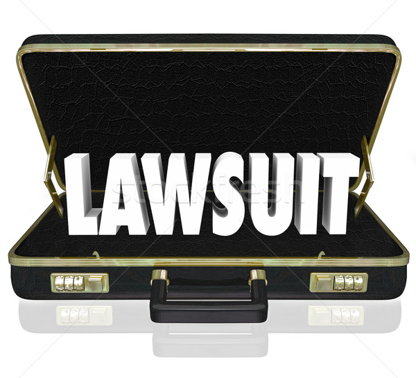 Lawsuit Briefcase Legal Court Case 3d Words Stock photo © iqoncept