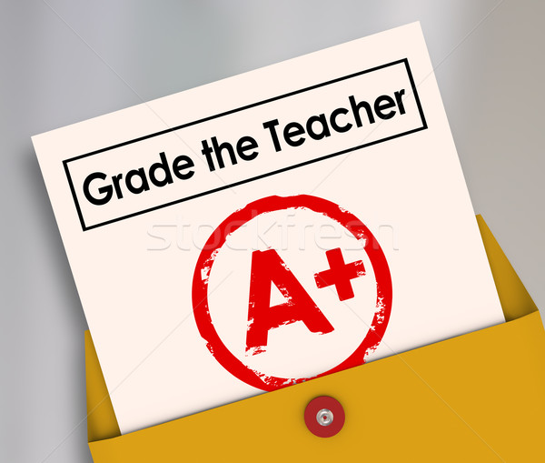 Grade the Teacher Report Card Student Evaluation Survey Feedback Stock photo © iqoncept