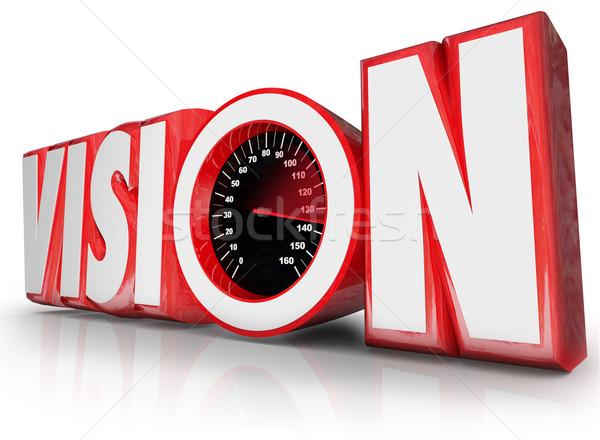 Visione 3D parola tachimetro futuro Foto d'archivio © iqoncept