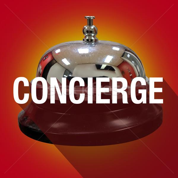 консьерж колокола слово долго тень обслуживание клиентов Сток-фото © iqoncept