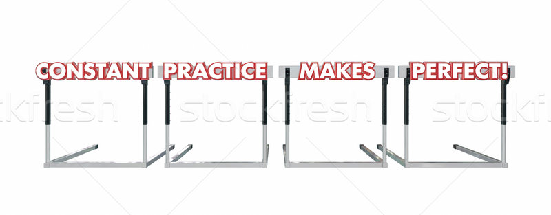 Constant Practice Makes Perfect Jumping Over Hurdles Stock photo © iqoncept