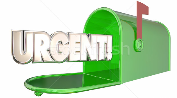 Urgent Message Note Letter Mailbox Communication 3d Illustration Stock photo © iqoncept