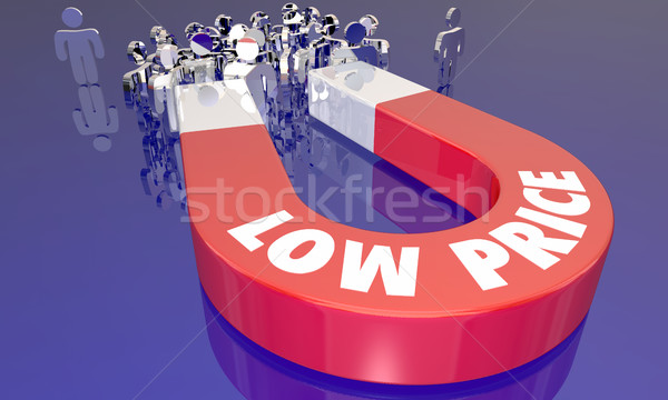 Low Prices Sale Attracting Customers Magnet Words 3d Illustratio Stock photo © iqoncept