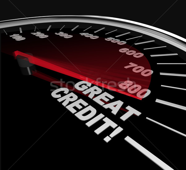 Great Credit Scores - Numbers on Speedometer Stock photo © iqoncept