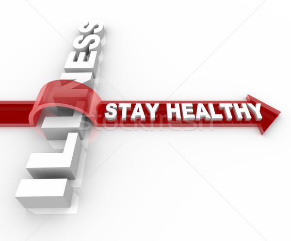 Stay Healthy - Words Jumping Over Illness Stock photo © iqoncept
