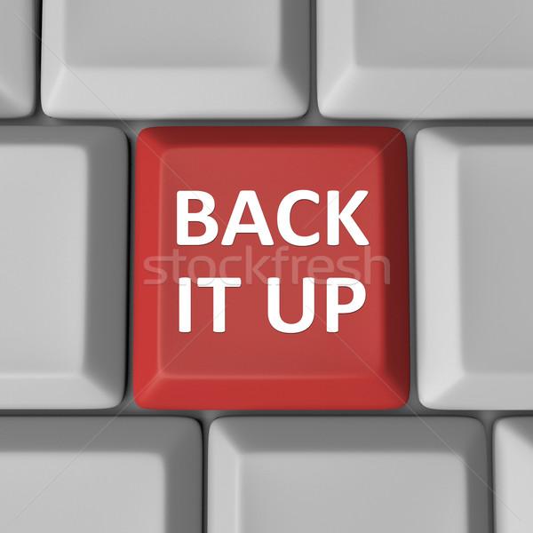 Back It Up Red Computer Keyboard Key Backup Stock photo © iqoncept