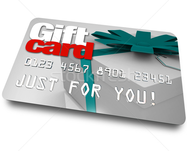 Gift Card Shopping Merchandise Plastic Credit Charge Stock photo © iqoncept
