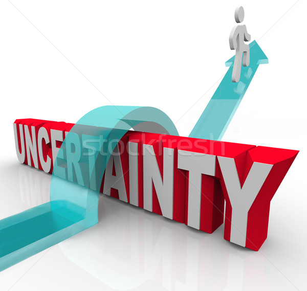 Overcoming Uncertainty Plan Ahead to Avoid Anxiety Stock photo © iqoncept
