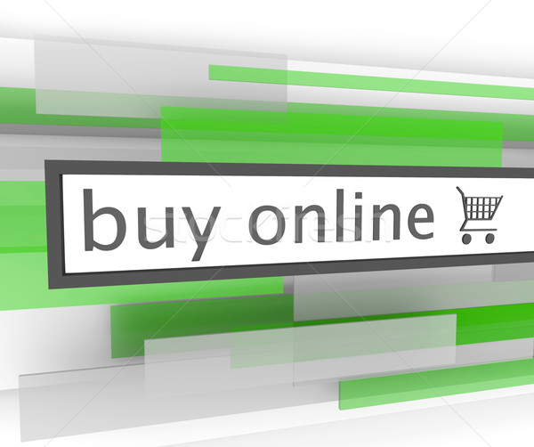 Buy Online Bar - Website Shopping Cart Stock photo © iqoncept