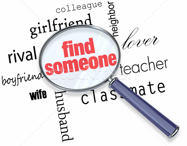 Searching for Someone - Magnifying Glass Stock photo © iqoncept
