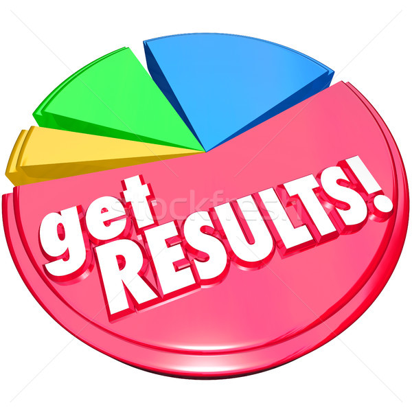 Get Results Pie Chart Achieve Increase Growth Stock photo © iqoncept