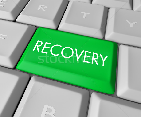 Recovery Key on Computer Keyboard Stock photo © iqoncept