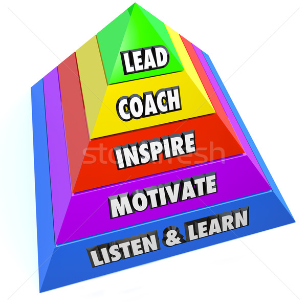 Coach inspirer motiver leader gestionnaire Photo stock © iqoncept