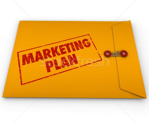 Confidential Marketing Plan Secret Business Information Envelope Stock photo © iqoncept