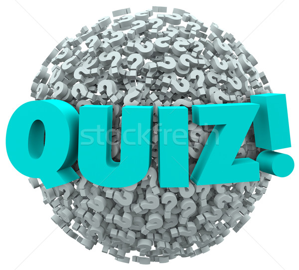 Quiz Question Marks Evaluate Test Knowledge Stock photo © iqoncept