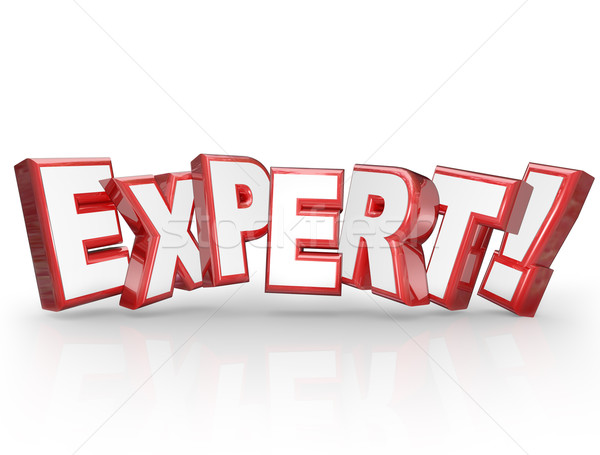 Expert 3D Word Professional Experience Expertise Skills Stock photo © iqoncept