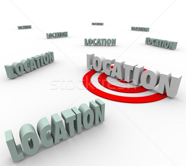 Localização 3D palavras o melhor lugar viver Foto stock © iqoncept
