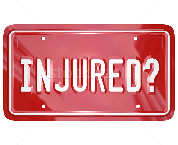 Inured License Plate Car Accident Lawyer Attorney Lawsuit Stock photo © iqoncept