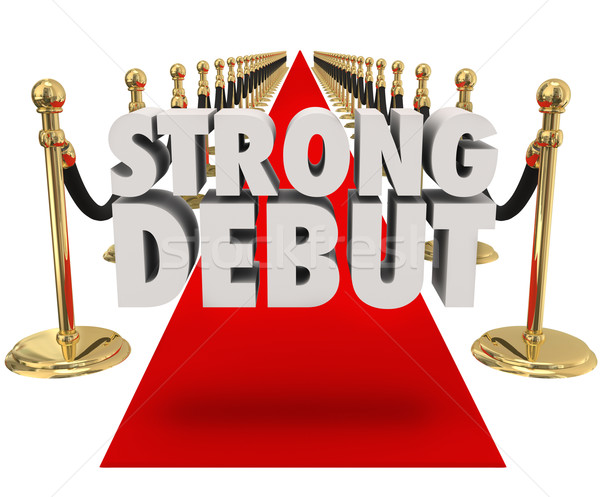 Strong Debut Red Carpet 3D Words Launching New Product Business Stock photo © iqoncept