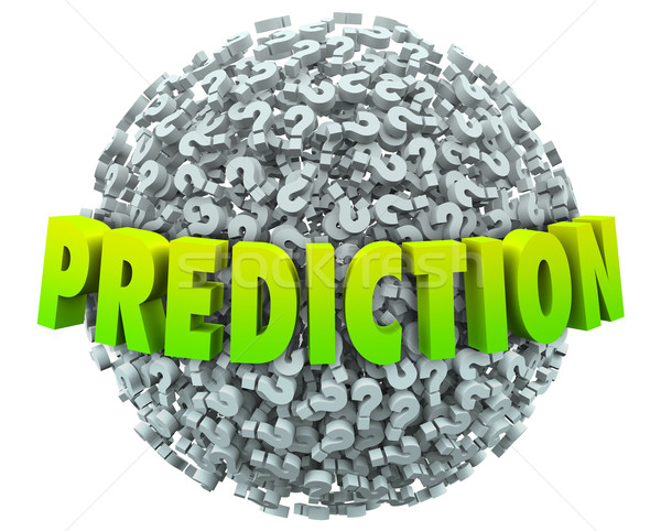 Prediction Question Mark Sphere Prophesy Fate Guessing Future Ou Stock photo © iqoncept