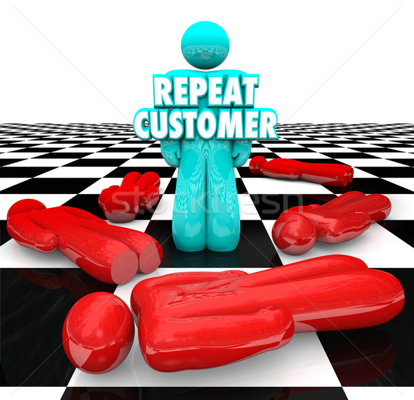 Repeat Customer Loyal Satisfied Faithful Client Return Business Stock photo © iqoncept