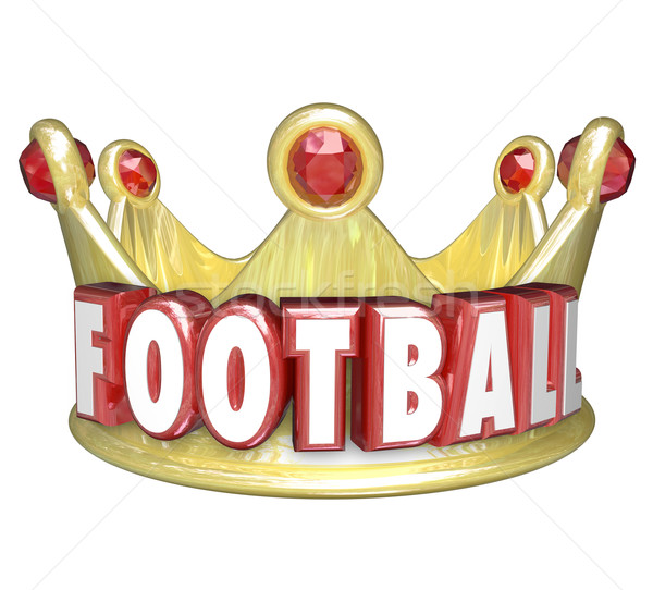 Football Crown Best Player Team WInner Victory Top Competitor Stock photo © iqoncept