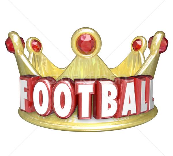 Piłka nożna korony najlepszy gracz zespołu zwycięzca Zdjęcia stock © iqoncept