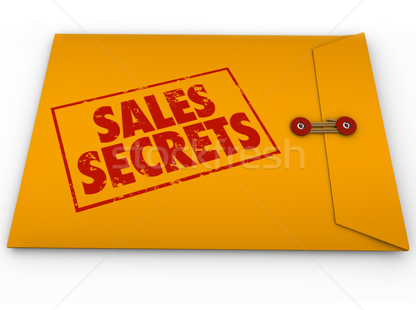 Sales Secrets Yellow Envelope How to Make a Sale Stock photo © iqoncept