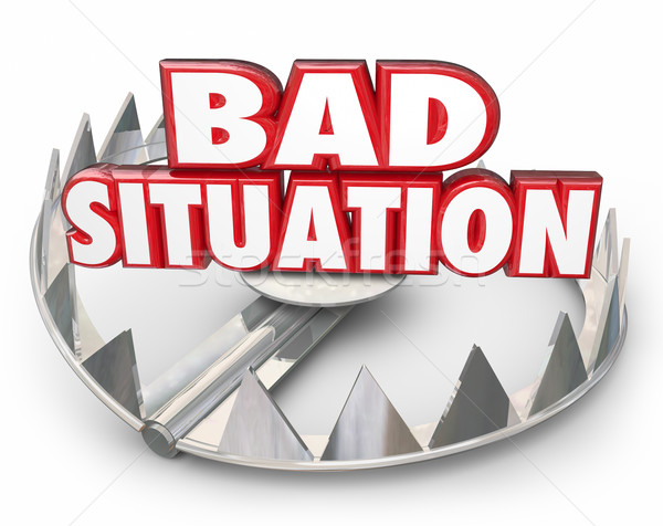 Bad Situation 3d Words Bear Trap Trouble Problem Issue Stock photo © iqoncept