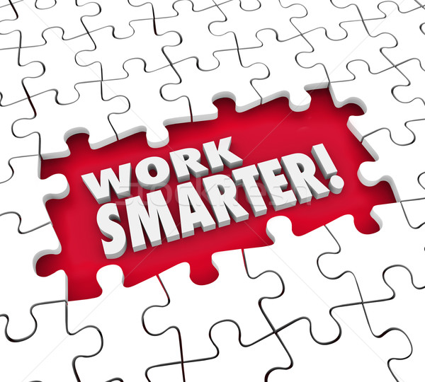 Work Smarter Puzzle Improve Workflow Task Process Procedure Syst Stock photo © iqoncept