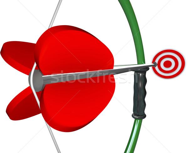 Boeg pijl target oog winnend spel Stockfoto © iqoncept