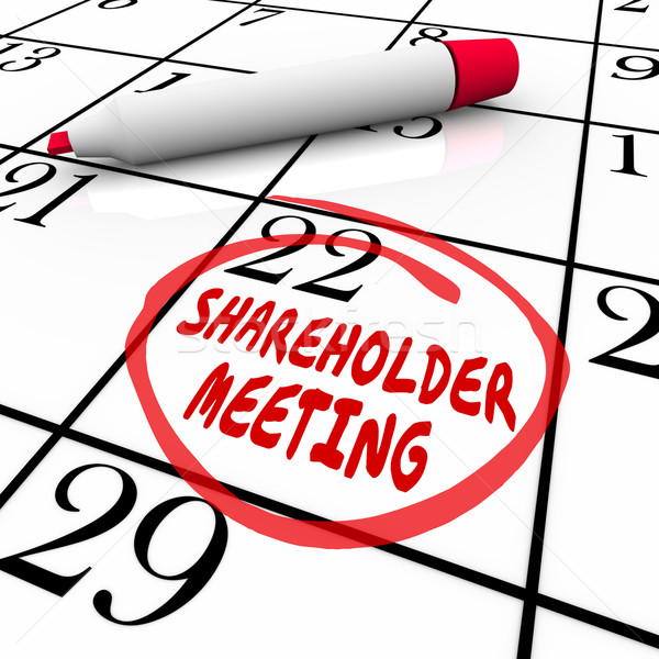 Shareholder Meeting Calendar Day Date Schedule Circled Reminder Stock photo © iqoncept