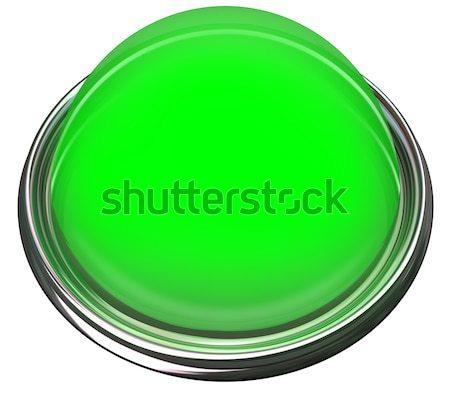 Green Round Button Light Catch Attention Advertise Message Alert Stock photo © iqoncept