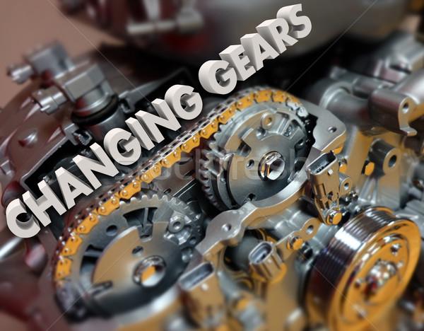 Engrenagens tópico carro veículo motor 3D Foto stock © iqoncept