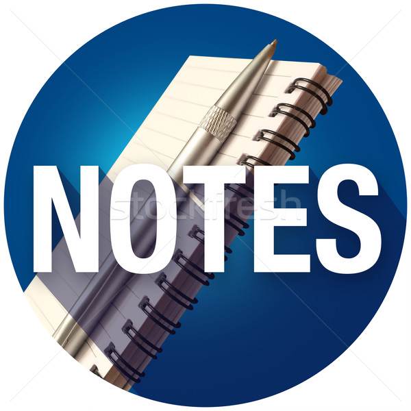 Note notepad mot longtemps ombre Photo stock © iqoncept