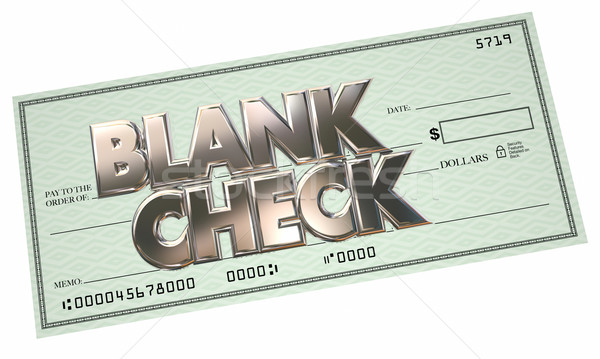 Blank Check 3d Words Money Free Opportunity Make Earn Income Stock photo © iqoncept