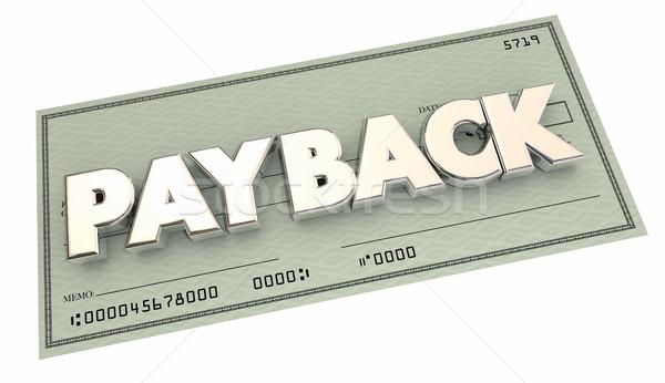 Voltar dinheiro pagamento verificar ilustração 3d feira Foto stock © iqoncept