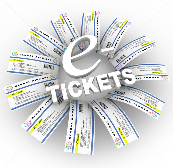 e-Tickets Word Ring Stock photo © iqoncept