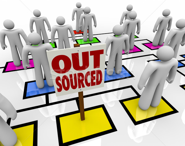 Outsourced - Position Eliminated on Organizational Chart Stock photo © iqoncept
