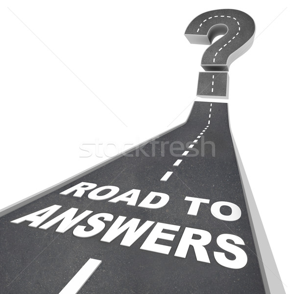 Road to Answers - Words on Street Stock photo © iqoncept