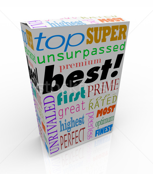 Best Words on Product Box Top Premium Buy Stock photo © iqoncept